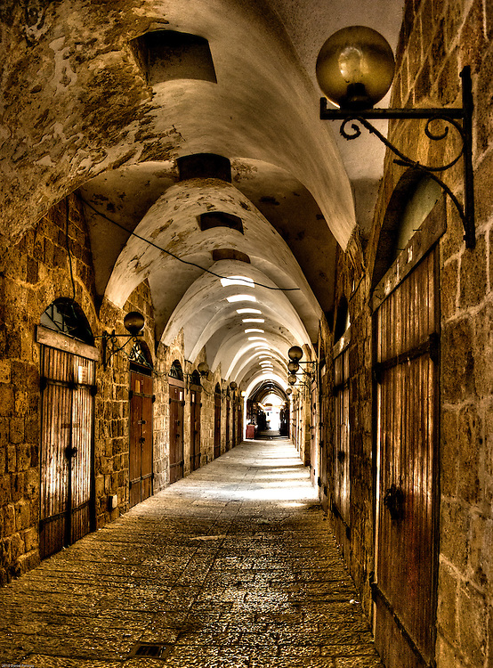Arched passage in Acre