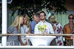 July 29, 2018 - BÅ'Stad, Sverige - 180729 H.K.H. Prins Carl Philip pÅ' plats under finalen i Swedish Padel Open den 29 juli 2018 i BÅ'stad  (Credit Image: © Christian …Rnberg/Bildbyran via ZUMA Press)