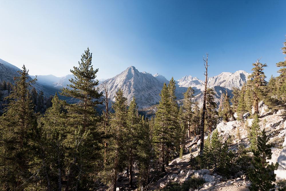 West Vidette Peak as seen along the John Muir Trail in California