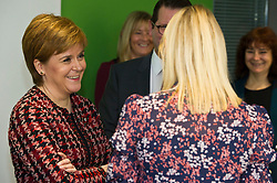 Pictured: Nicola Sturgeon<br /> The First Minister, Nicola Sturgeon visited the Roslin Institute's Easter Bush campus today to officially open the Innovation Centre and meet tenants who have already moved in. Ms Sturgeon met students from Mussbleburgh Grammer School who participate in the outreach programme run at the Institute.<br /> <br /> Ger Harley | EEm 5 November 2018