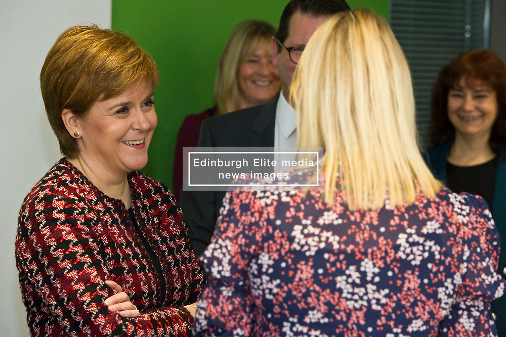 Pictured: Nicola Sturgeon<br /> The First Minister, Nicola Sturgeon visited the Roslin Institute's Easter Bush campus today to officially open the Innovation Centre and meet tenants who have already moved in. Ms Sturgeon met students from Mussbleburgh Grammer School who participate in the outreach programme run at the Institute.<br /> <br /> Ger Harley   EEm 5 November 2018
