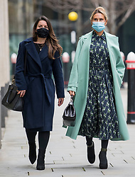 © Licensed to London News Pictures. 07/12/2020. London, UK. TATIANA AKHMEDOV (Right) arrives at The High Court in London. Tatiana Akhmedova, who is locked in a multi-million pound divorce settlement battle with her ex husband, Russian billionaire Farkhad Akhmedov, claims her son, Temur, helped his father to hide assets. Photo credit: Ben Cawthra/LNP
