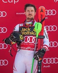 Marcel Hirscher during the flower ceremony Men's Slalom race of FIS Alpine Ski World Cup 57th Vitranc Cup 2018, on March 4, 2018 in Kranjska Gora, Slovenia. Photo by Urban Meglič / Sportida