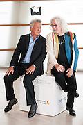 Dustin Hoffman with actor Billy Connolly at 60th San Sebastian Film Festival