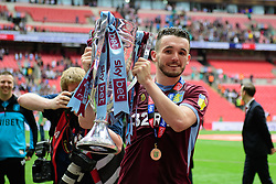 May 27, 2019 - London, England, United Kingdom - JohnMcGinn (7) of Aston Villa holding the trophy during the Sky Bet Championship match between Aston Villa and Derby County at Wembley Stadium, London on Monday 27th May 2019. (Credit: Jon Hobley | MI News) (Credit Image: © Mi News/NurPhoto via ZUMA Press)