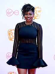 Clara Amfo attending the Virgin Media BAFTA TV awards, held at the Royal Festival Hall in London.