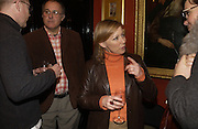 Hazrry Harris, Rex Bradley and Lindsay Coulson, Grayson Perry by Wendy Jones launch party. Leighton House. Holland Park. London. 17 January 2006. January 2006.  ONE TIME USE ONLY - DO NOT ARCHIVE  © Copyright Photograph by Dafydd Jones 66 Stockwell Park Rd. London SW9 0DA Tel 020 7733 0108 www.dafjones.com