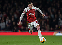 Football - 2018 / 2019 UEFA Europa League - Round of Thirty-Two, Second Leg: Arsenal (0) vs. BATE Borisov (1)<br /> <br /> Mesut Ozil (Arsenal FC) on his return to the team powers forward at The Emirates.<br /> <br /> COLORSPORT/DANIEL BEARHAM