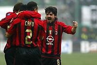 Milano 16-01-2005<br />Campionato  Serie A Tim 2004-2005<br />Milan Udinese<br />nella  foto esultanza Milan Gattuso<br />Foto Snapshot / Graffiti