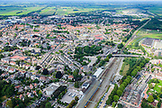 Nederland, Drenthe, Meppel, 27-08-2013;<br /> Meppel met station.<br /> luchtfoto (toeslag op standaard tarieven);<br /> aerial photo (additional fee required);<br /> copyright foto/photo Siebe Swart.