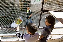 May 6, 2017 - Gaza City, The Gaza Strip, Palestine - Palestinian children play near his family's home in Al-Shojaeya area, east of Gaza City. (Credit Image: © Mahmoud Issa/Quds Net News via ZUMA Wire)