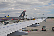Germany, The Frankfurt airport. Royal Jordanian Airbus A320