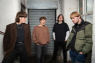 The Zangwills, a UK based indie rock band from Cheshire. The band members are (left to right): Jake Vickers (vocals & guitar), Sam Davies (lead guitar), Ed Dowling (bass), Adam Spence (drums).<br /> Photo©Steve Forrest/Workers' Photos