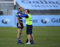 Rugby Union - 2020 / 2021 Gallagher Premiership - Round 12 - Bath vs Exeter Chiefs - Recreation Ground<br /> <br /> Bath Rugby's Rhys Priestland receiving medical attention during the game.<br /> <br /> COLORSPORT/ASHLEY WESTERN