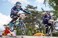 #28 (DOUDOUX Mathilde) FRA during round 3 of the 2017 UCI BMX  Supercross World Cup in Zolder, Belgium,