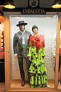 Display of traditional Spanish clothes from Andalucia
