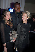 TARKA RUSSELL; USAIN BOLT; ELIZABETH ESTEVE, Fundraising Gala for the Zeitz foundation and Zoological Society of London hosted by Usain Bolt. . London Zoo. Regent's Park. London. 22 November 2012.