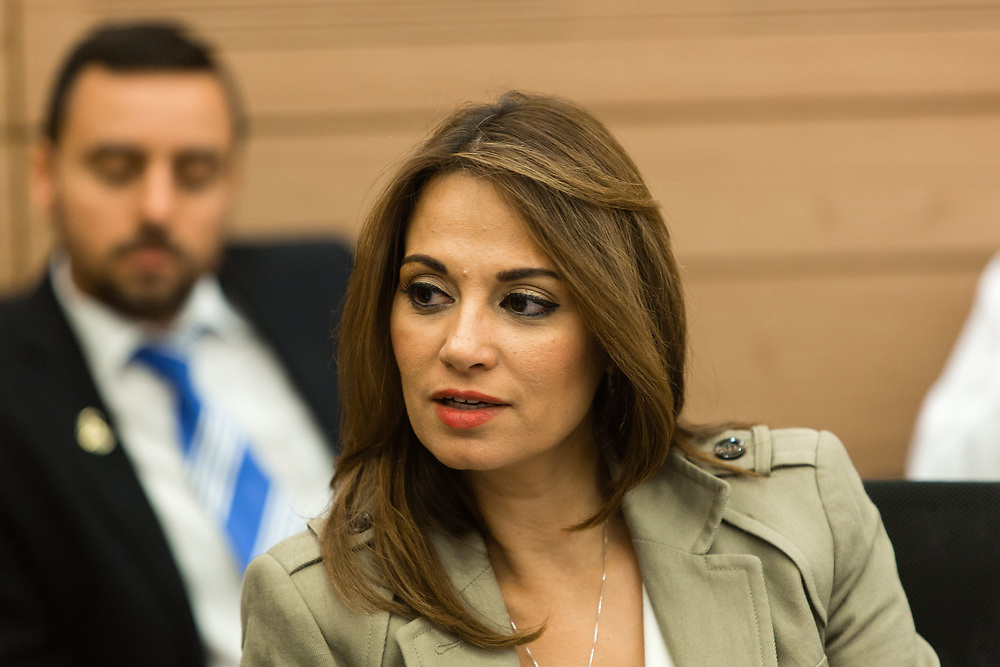 Israeli lawmaker, Member of the Knesset Yifat Shasha-Biton  at the Knesset, Israel's parliament in Jerusalem, on November 7, 2016.