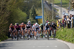 The leaders climb Wolvenberg at the Women's Ronde van Vlaanderen 2017. A 153 km road race on April 2nd 2017, starting and finishing in Oudenaarde, Belgium. (Photo by Sean Robinson/Velofocus)