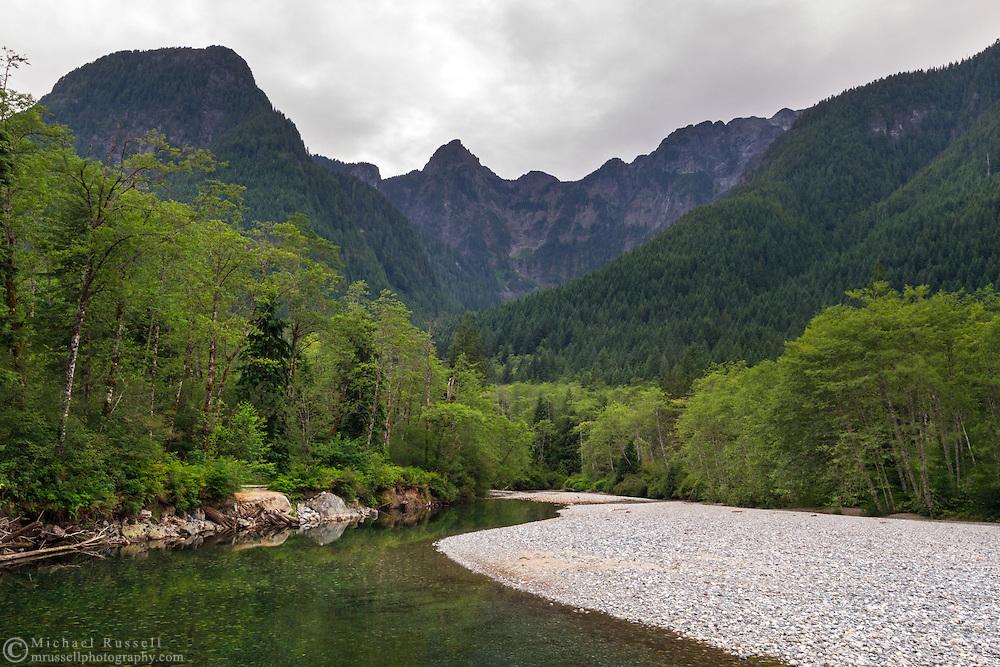 Blanshard Peak, Evans Peak and Gold Creek in Golden Ears Provincial Park in Maple Ridge, British Columbia, Canada