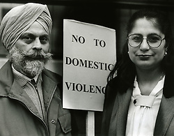 Mamta Chopra; a Bradford woman threatened with deportation for leaving her violent husband before 12 months of marriage. UK 1992
