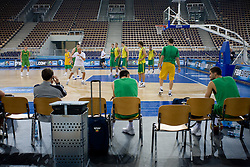 Team of Lithuania during the practice session, on September 11, 2009 in Arena Lodz, Hala Sportowa, Lodz, Poland.  (Photo by Vid Ponikvar / Sportida)