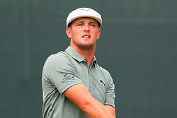 August 25, 2018 - Paramus, NJ, U.S. - PARAMUS, NJ - AUGUST 25:   Bryson DeChambeau plays his shot from the first tee during the third round of The Northern Trust on August 25, 2018 at the Ridgewood Championship Course in Ridgewood, New Jersey.   (Photo by Rich Graessle/Icon Sportswire) (Credit Image: © Rich Graessle/Icon SMI via ZUMA Press)