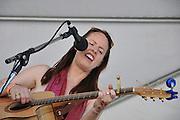 Jen Hajj in concert at the 2012 Tucson Folk Festival in Downtown Tucson, Arizona.