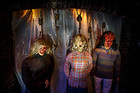 Scenes from  Halloween Horror Nights at Universal Studios Hollywood.  Photo by David Sprague