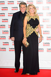 © Licensed to London News Pictures. 18/10/2016. ASHLEY BRODIN and JILLY JOHNSON attend the Variety Showbiz Awards at the Hilton Park Lane Hotel. London, UK. Photo credit: Ray Tang/LNP