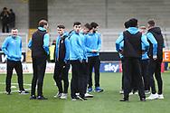 Bradford City players arrive at the Stadium during the EFL Sky Bet League 1 match between Burton Albion and Bradford City at the Pirelli Stadium, Burton upon Trent, England on 26 January 2019.