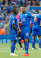 Football - 2016/2017 Premier League - Leicester Ciity V Arsenal. <br /> <br /> Nampalys Mendy and Danny Simpson of Leicester City<br /> at The King Power Stadium.<br /> <br /> COLORSPORT/DANIEL BEARHAM