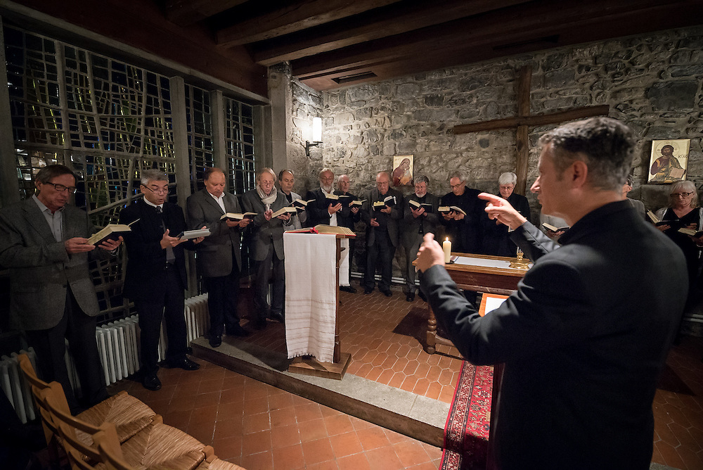 1 October 2016, Bossey, Switzerland: Gregorian chants fill the chapel at night, as the Bossey Ecumenical Institute marks 70 years of ecumenical formation since the World Council of Churches started the institute in 1946.