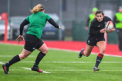 Wales women's Jessica Kavanagh-Williams in action during todays match<br /> <br /> Photographer Craig Thomas/Replay Images<br /> <br /> International Friendly - Wales women v Ireland women - Sunday 21th January 2018 - CCB Centre for Sporting Excellence - Ystrad Mynach<br /> <br /> World Copyright © Replay Images . All rights reserved. info@replayimages.co.uk - http://replayimages.co.uk