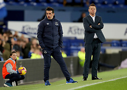 Everton manager Marco Silva and Gor Mahia manager Dylan Kerr during the SportPesa Trophy match at Goodison Park, Liverpool.