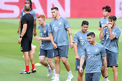 September 18, 2018 - Lisbon, Portugal - Bayern's team players attend a training session on the eve of the UEFA Champions League Group E football match SL Benfica vs Bayern Munich at the Luz stadium in Lisbon, Portugal on September 18, 2018. (Credit Image: © Pedro Fiuza/ZUMA Wire)