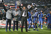 Photo: Rich Eaton.<br /> <br /> Chelsea v Arsenal. Carling Cup Final. 25/02/2007. Jose Mourinho, manager of Chelsea, celebrates victory over Arsenal by 2 goals to 2