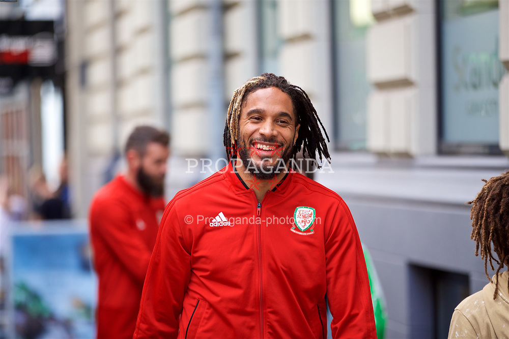 AARHUS, DENMARK - Sunday, September 9, 2018: Wales' captain Ashley Williams during a pre-match walk in Aarhus ahead of the UEFA Nations League Group Stage League B Group 4 match against Denmark. (Pic by David Rawcliffe/Propaganda)