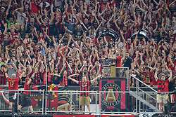 July 15, 2018 - Atlanta, GA, U.S. - ATLANTA, GA Ð JULY 15:  Atlanta fans doing the A-T-L chant during the match between Atlanta and Seattle on July 15th, 2018 at Mercedes-Benz Stadium in Atlanta, GA.  Atlanta United FC and Seattle Sounders FC played to a 1 Ð 1 draw. (Photo by Rich von Biberstein/Icon Sportswire) (Credit Image: © Rich Von Biberstein/Icon SMI via ZUMA Press)