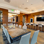 Demonstration Kitchen area at One Light Tower - new-build residential highrise in downtown Kansas City, Missouri.