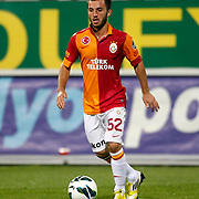 Galatasaray's Emre Colak during their Turkish Superleague soccer derby match Besiktas between Galatasaray at the Inonu Stadium at Dolmabahce in Istanbul Turkey on Thursday, 26 August 2012. Photo by TURKPIX