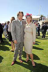 The EARL & COUNTESS OF MARCH at the 3rd day of the 2009 Glorious Goodwood racing festival held at Goodwood Racecourse, West Sussex on 30th July 2009.