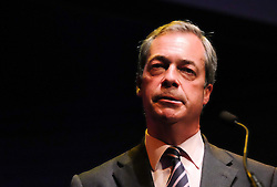 © Licensed to London News Pictures. <br /> 20/06/2016. <br /> Gateshead, UK.  <br /> <br /> Nigel Farage MEP addresses members of the public and campaign supporters at a public meeting on the European Union referendum held by the Leave campaign at the Sage building in Gateshead. <br /> <br /> The meeting was held to try and persuade voters to vote leave in the European Referendum when the country goes to the polls on June 23rd.  <br /> <br /> Photo credit: Ian Forsyth/LNP