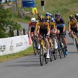 WIJSTER (NED) June 19: <br /> CYCLING <br /> Dutch Nationals Road U23 up and around the Col du VAM<br /> Leaders Mick Van Dijke (Netherlands / Team Jumbo Visma Academy)Van Dijke (Netherlands / Team Jumbo Visma Academy), Timo de Jong