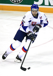 Radovan Somik of Slovakia at ice-hockey game Slovenia vs Slovakia at Relegation  Round (group G) of IIHF WC 2008 in Halifax, on May 09, 2008 in Metro Center, Halifax, Nova Scotia, Canada. Slovakia won 5:1. (Photo by Vid Ponikvar / Sportal Images)