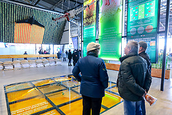 """Esteio/RS, 26/08/2018 - Arena Inovação - Pitchs Startups durante O Salão do Empreendedor que está ocorrendo na Expointer 2018, trará nesta edição, destaque para as cadeias produtivas da Soja, Pecuária do Corte e Vinicultura, com a perspectiva """"Do Campo à Mesa"""". O espaço está localizado no Pavilhão Internacional do Parque de Exposições Assis Brasil, em Esteio/RS, de 25 de Agosto a 02 de Setembro. Foto: Marcos Nagelstein/ Agência Preview"""