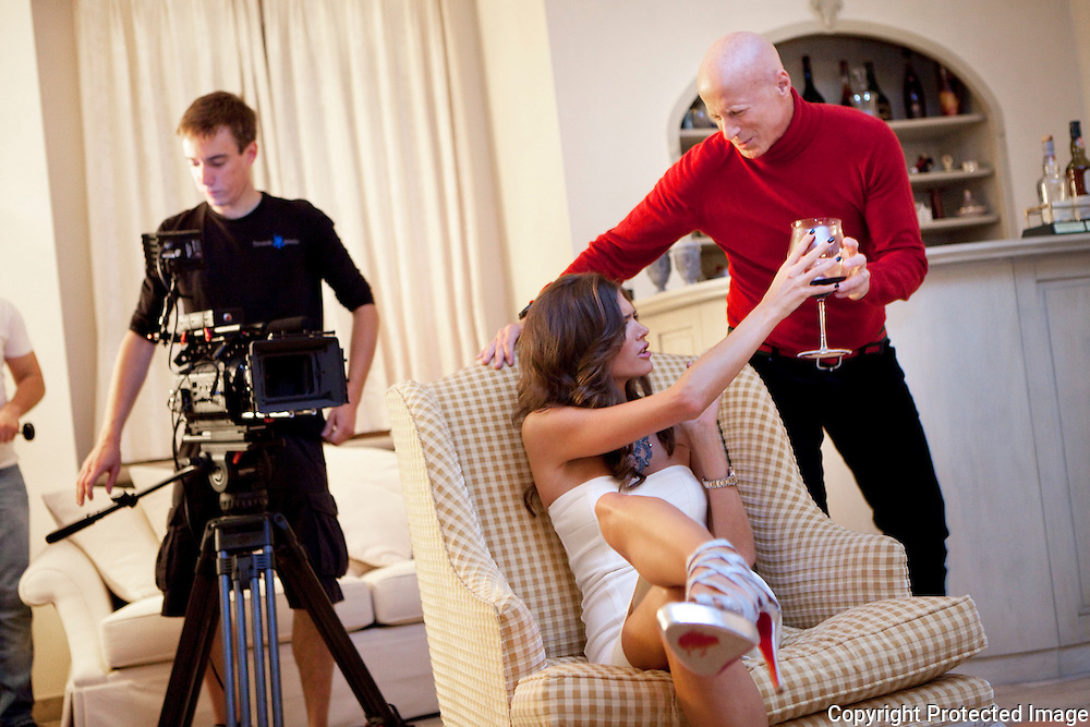 360451-Opnamens van de videoclip van Astrid Bryan & John in Villa in Grobbendonk