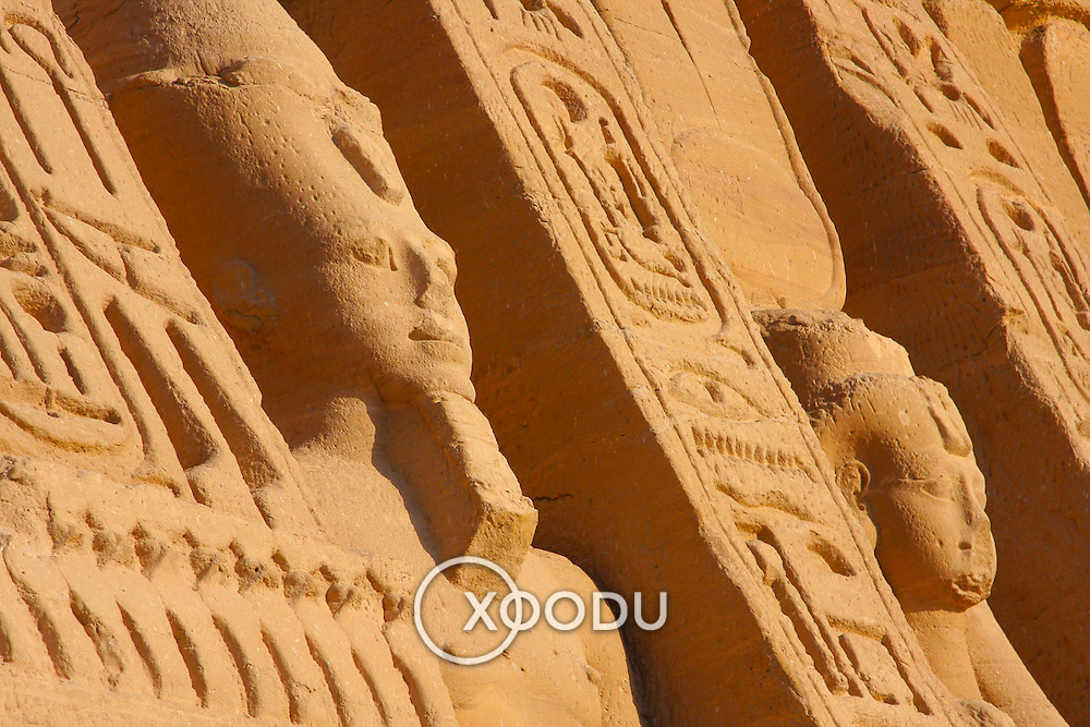 Hathor temple (Queen Nefertari) Abu Simbel, Abu Simbel, Egypt (January 2008)