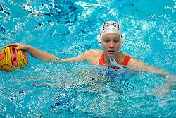04-01-2008 WATERPOLO: EKT NEDERLAND - TSJECHIE: AMSTERDAM<br /> De Nederlandse waterpolosters zijn het kwalificatietoernooi voor het Europees kampioenschap met een monsterzege begonnen. Tsjechie werd met 31-4 verslagen / Mieke Cabout<br /> ©2007-WWW.FOTOHOOGENDOORN.NL