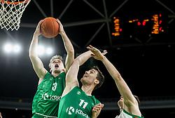Leon Stergar of Krka during 1st Leg basketball match between KK Cedevita Olimpija and KK Krka in Final of Slovenian National Championship 2020/21, on May 26, 2021 in Arena Stozice, Ljubljana, Slovenia. Photo by Vid Ponikvar / Sportida